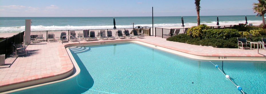 Heated beachfront pool