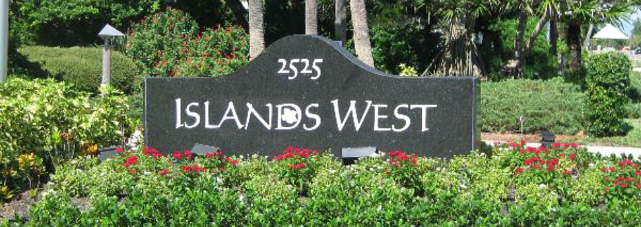 Islands West Entrance Sign